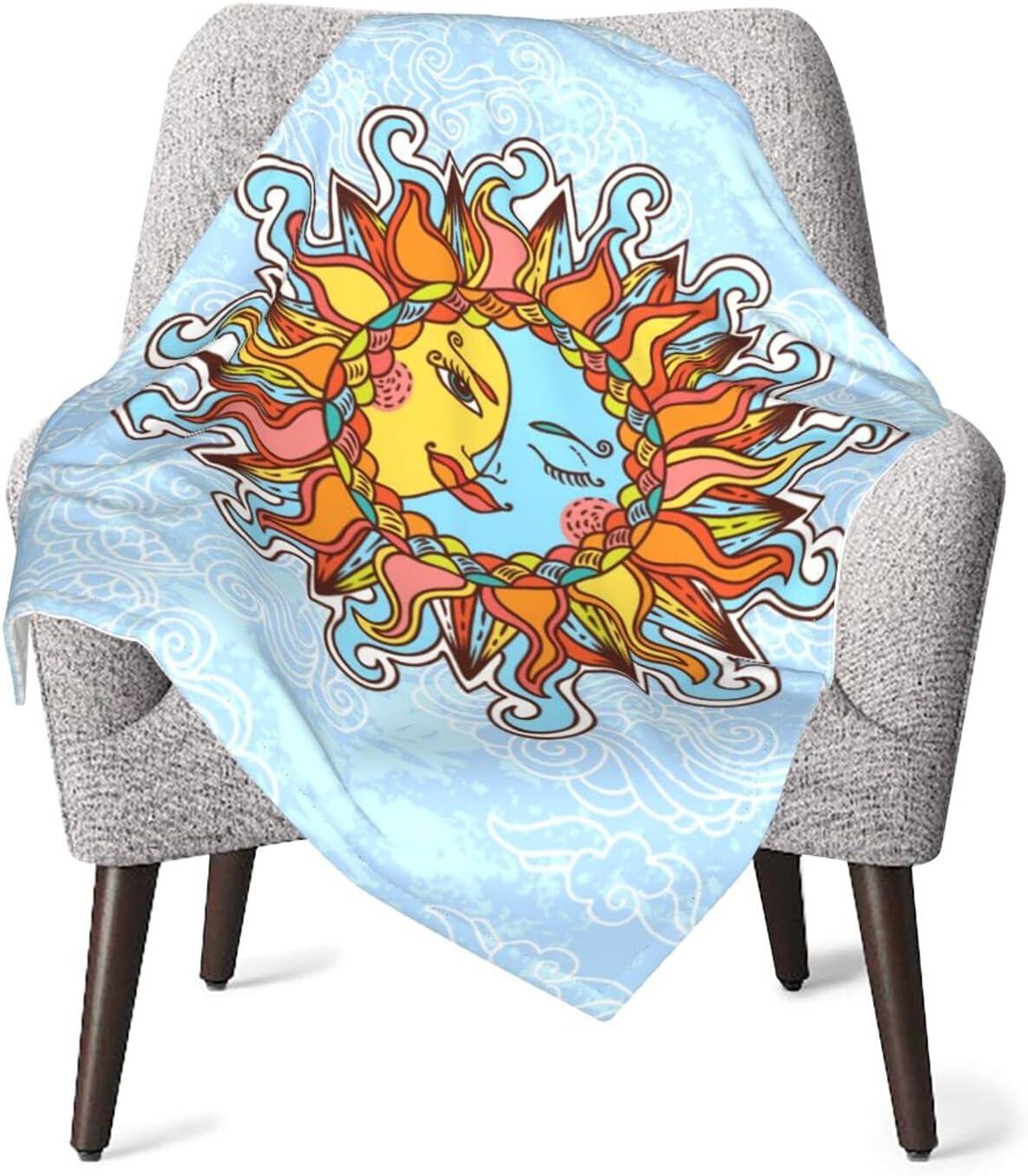 Duduho Magic Sun and Moon Baby Fuzzy Blankets Soft Atlanta Mall Warm Plush Be Max 77% OFF