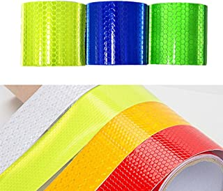 Sponsored Ad - 5cmx3m 3Pcs(Blue Green Lime) High Intensity Grade Reflective Tape Pack Safety Warning Decal Stickers Pack R...