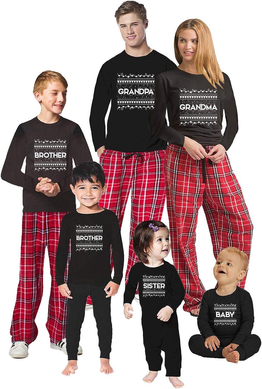Awkward Styles Christmas Pajamas for Family Xmas Pattern Grandma Grandpa Matching Christmas Sleepwear Men PJ Set Style 1 XL