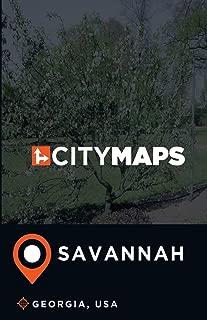 City Maps Savannah Georgia, USA