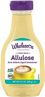 Wholesome Sweeteners Allulose Zero Calorie Liquid Sweetener, No Glycemic Impact, Non GMO, Gluten Free & Vegan, 11.5 oz (Pa...