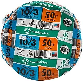 Southwire 13059122 Romex SIMpull 10/3Uf-Wgx50 Type Uf-B Building Wire, 10/3, 50 Ft, Pvc, Feet