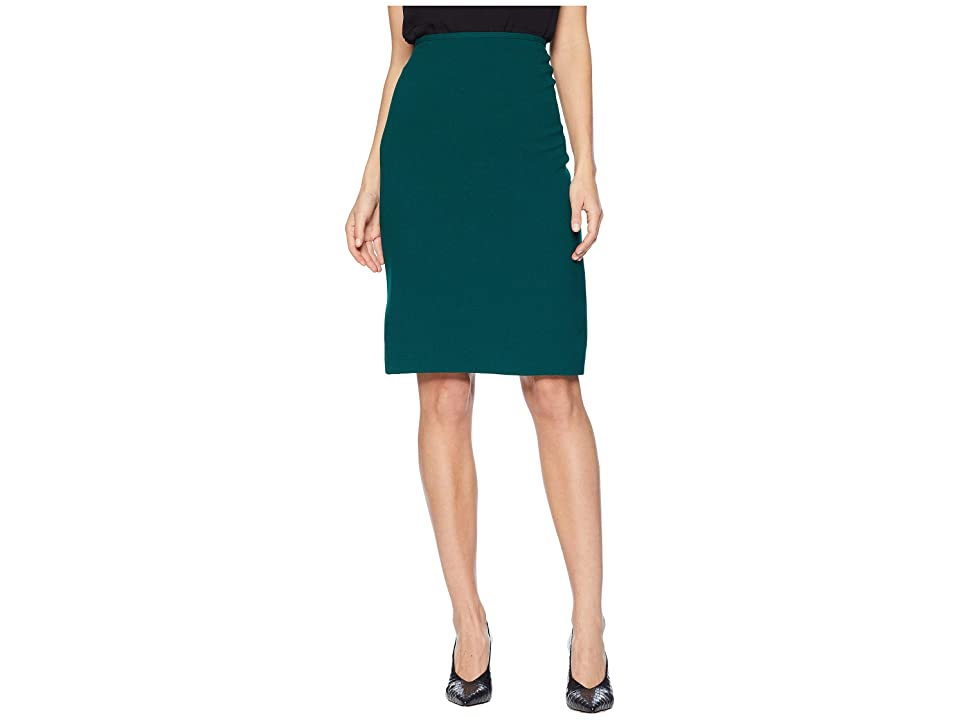 Tahari by ASL Crepe Pencil Skirt (Green) Women