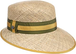 Lierys Cappello di Paglia Mialia Schute Donna - Made in Italy da Sole con Visiera, Nastro Grosgrain Primavera/Estate