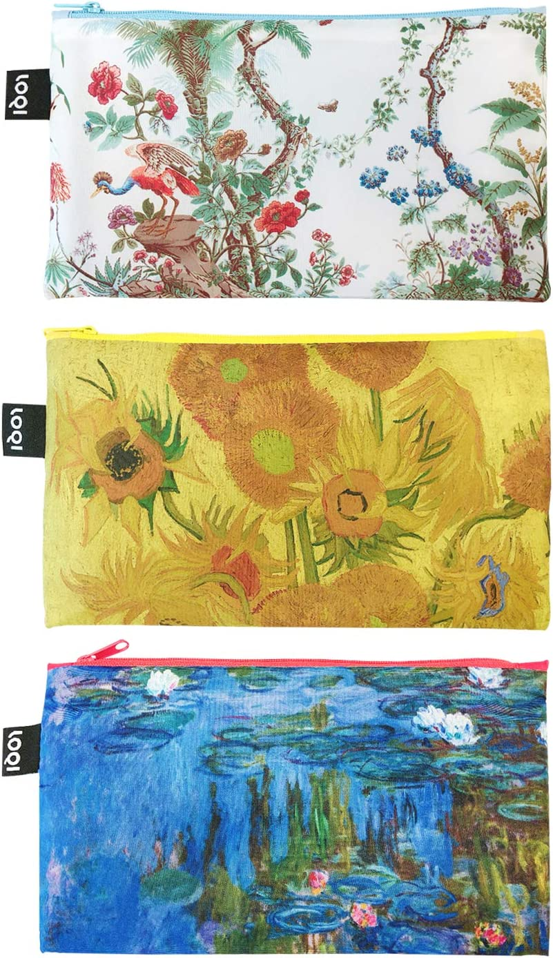 LOQI Museum Zip Year-end annual account Cheap Pockets Set Chinese Sunflower of 3 Décor