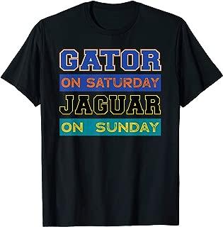 Gator On Saturday Jaguar On Sunday Jacksonville Football T-Shirt