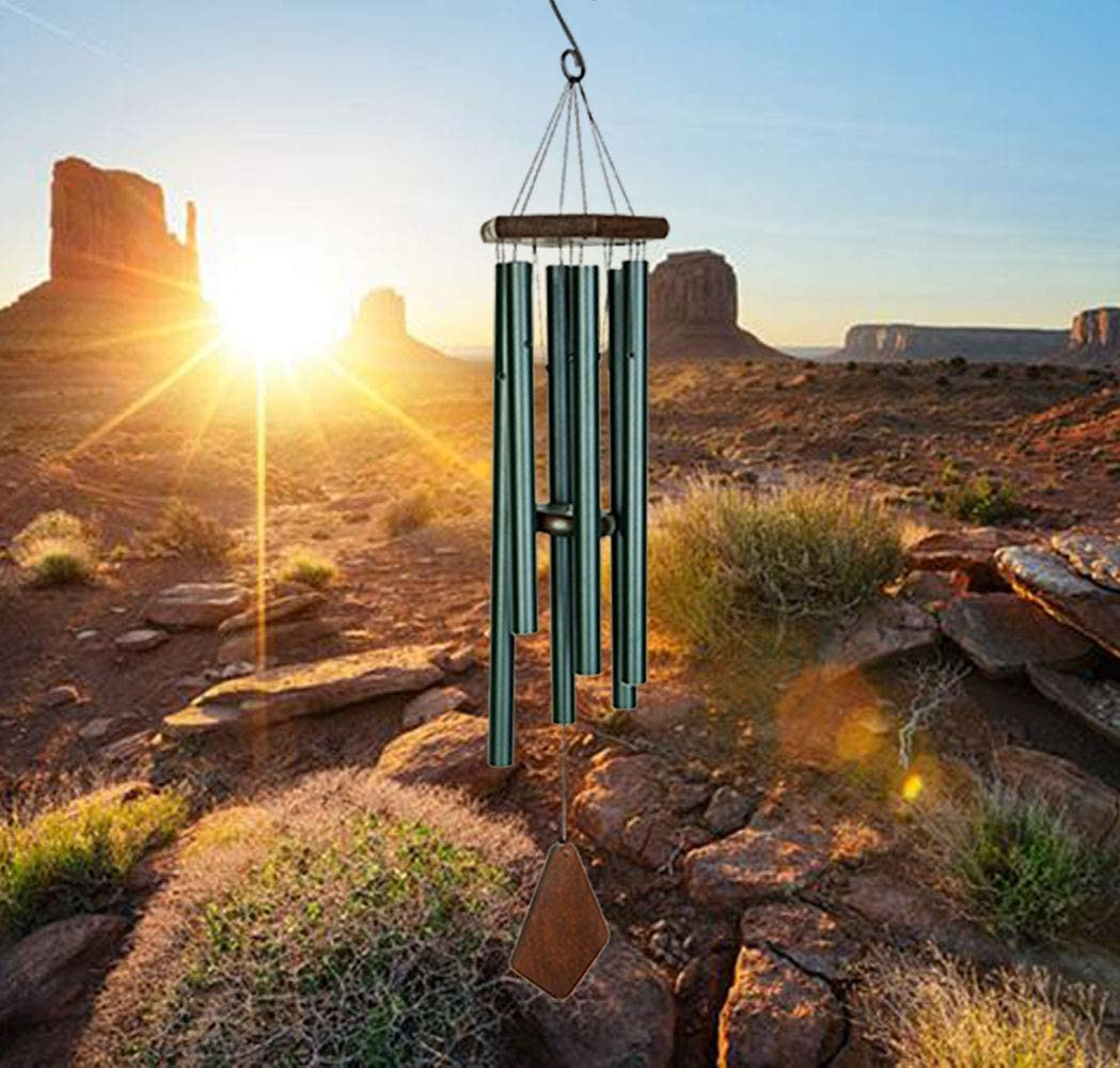 """Wind Chimes Outdoor Large Deep Tone Super-cheap Dealing full price reduction Heavy Tubes 36"""" 6 with"""