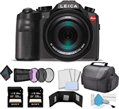 Leica V-Lux (Typ 114) 20 Megapixel Digital Camera with 3-Inch LCD (18194) Bundle with 2X 128GB Memory Cards + More