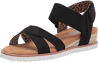 Skechers BOBS Women's Desert Kiss-Secret Picnic Flat Sandal