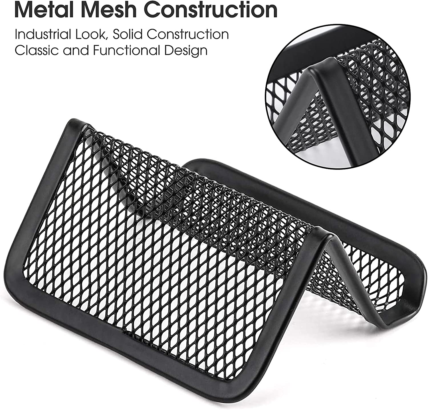 Buy MaxGear Business Card Holder for Desk Metal Business Card ...