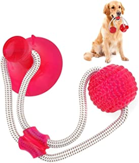 Landove Pet Molar Bite Toy, Suction Cup Dog Toy Rubber Chew Toys Interactive Puppy Training Rope For Teeth Cleaning Pet Su...
