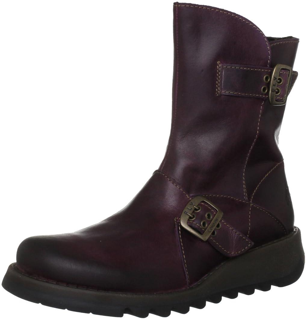 主張するやさしいメロディー[FLY London] WomensフライロンドンSeti Low Heel Ankle Boot Leather Biker Boot