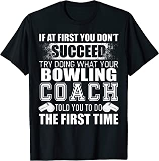 Funny Bowling Coach Tshirt Thank You Gift for Coaches