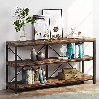 Table de canapé, 3 Niveaux Meuble TV Industriel Console Longue étroite avec étagères pour Hallyway, entrée, Salon, 140 cm ...
