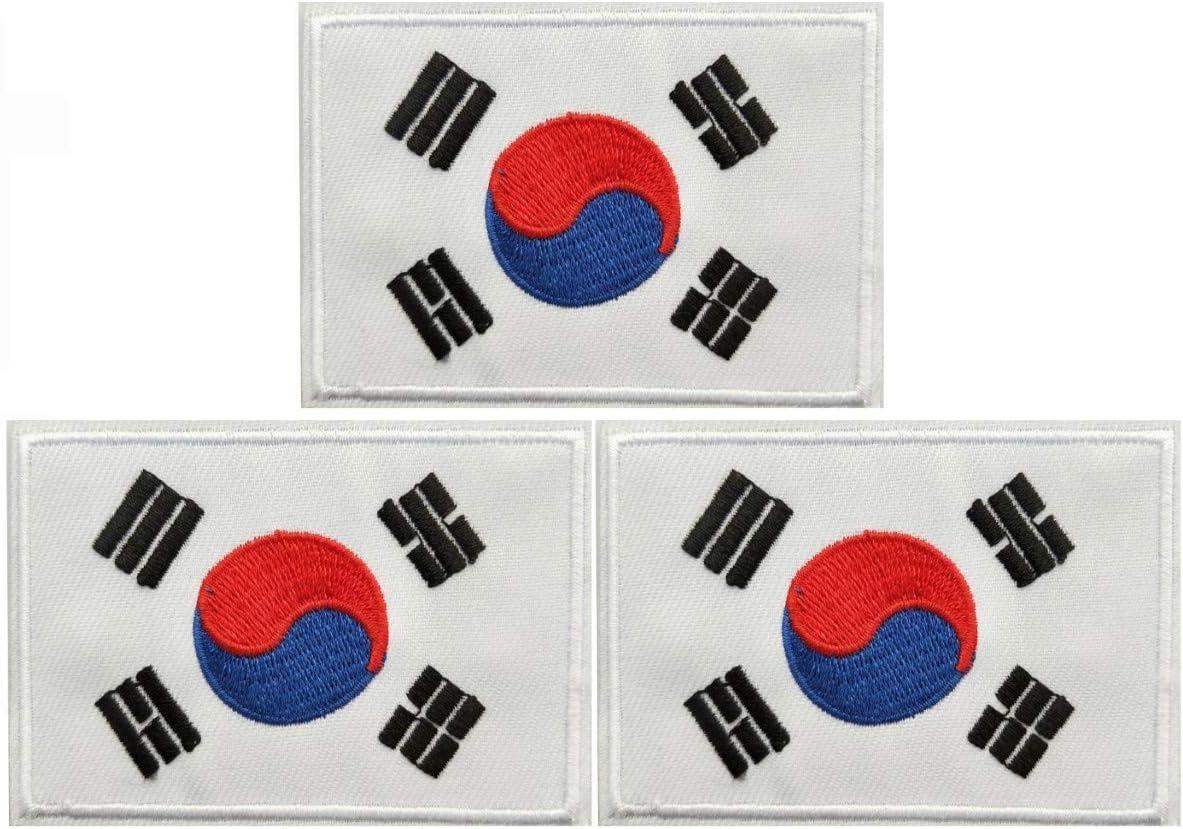 JAVD 3Pack Korea Philadelphia Mall Flag Patch OFFicial shop Korean KoreaTactical Flags Patchs F