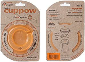 product image for Original Cuppow Wide with Straw-Tek - Drinking Lid for Wide Mouth Canning Jar! - Orange