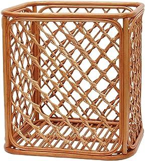 Liangzishop Boîte de Rangement Panier de Rangement en rotin européen Boîte de Rangement for Baignoire Panier de Rangement ...