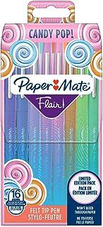 Paper Mate Flair Feutres de Coloriage Candy POP, pointe moyenne (0,7mm), assortiment de couleurs, lot de 16