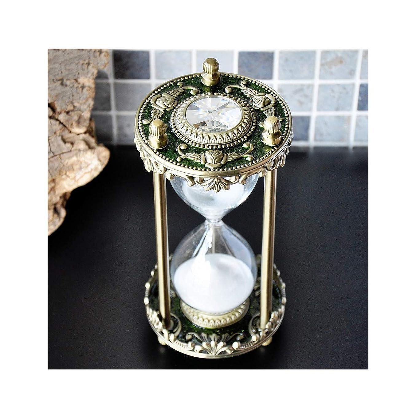喜劇特別な農村XIONGHAIZI 砂時計、金属砂時計30分タイマー、クリエイティブな装飾品、家の装飾、Send Girlfriend、ボーイフレンドのギフト (Size : 30 minutes)