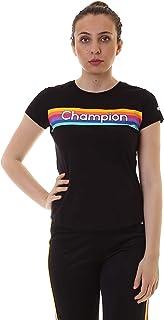 Champion 111324 KK001NBK Women's Crew Neck T-Shirt, Small, Black