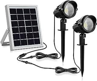 /éclairage 3000K Blanc Chaud IP66 Spot LED Solaire jardin MEIKEE patio pergola lampe solaire d/échange pour cl/ôture all/ée terrasse
