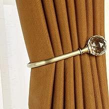 HSTYAIG Crystal Curtain Holdback Hooks Drapery Tiebacks Tassel Holder Window Decorative Hook Set of 2