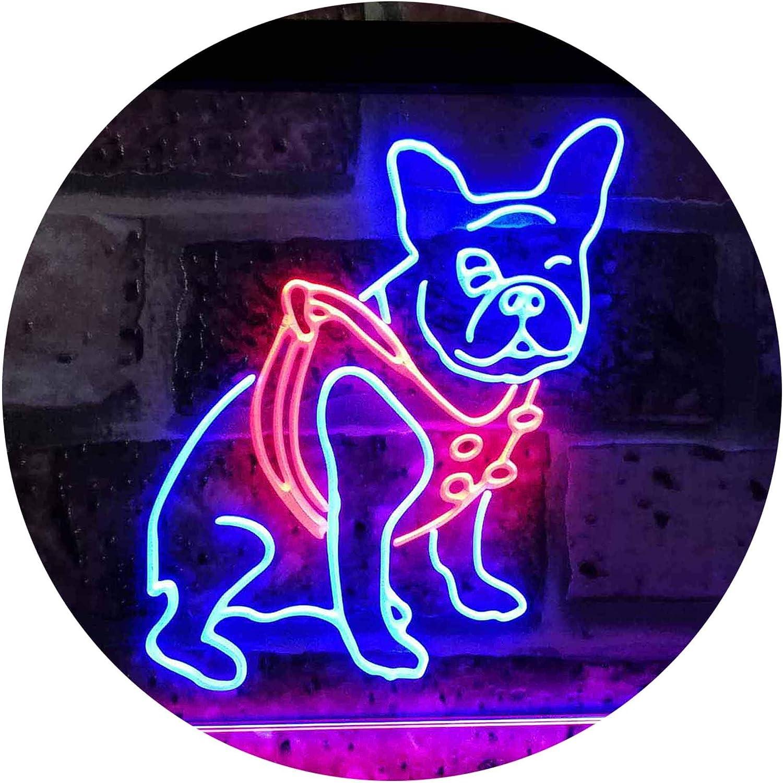 AdvPro 2C French Bulldog Bulldog Bulldog Dog House Dual Farbe LED Barlicht Neonlicht Lichtwerbung Neon Sign rot & Blau 12  x 8.5  st6s32-j2126-rb B07JKF77TD | Zahlreiche In Vielfalt  61d6f4