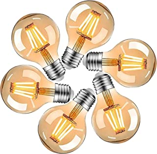 HISAYSY Ampoule Vintage Edison E27, Ampoule LED Vintage E27 4W, Ampoule Décorative Rétro Edison E27 Blanc chaud, éclairage...