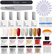 Gelongle Dip Powder Nail Starter Kit 10 Colors Dipping Powder System for French Nail Manicure Set