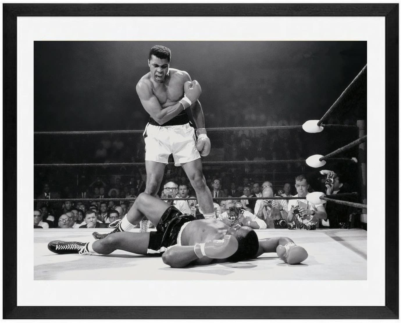 Muhammad Ali Special sale item Wall Art Posters Framed Sonny fra Milwaukee Mall Liston Picture vs