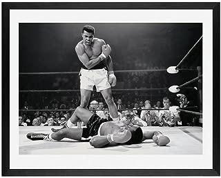 Framed Art,Muhammad ali Poster, Framed Wall Art,Muhammad Ali vs. Sonny Liston Printed Poster, Boxing Photo, Fight, Champ, Man cave Art, Man cave Art, Boxing, ali