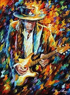 Stevie Ray Vaughan — PALETTE KNIFE Modern Impressionist Portrait Oil Painting On Canvas By Leonid Afremov Studio