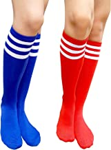 AM Landen Two Pairs Colored Casual Knee High Tube Socks Striped Costume Cosplay Socks