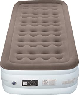 Etekcity Air Mattress Twin Size Inflatable Airbed Blow Up Air Bed Raised Mattress with Built in Pump for Camping, Guest, Height 18