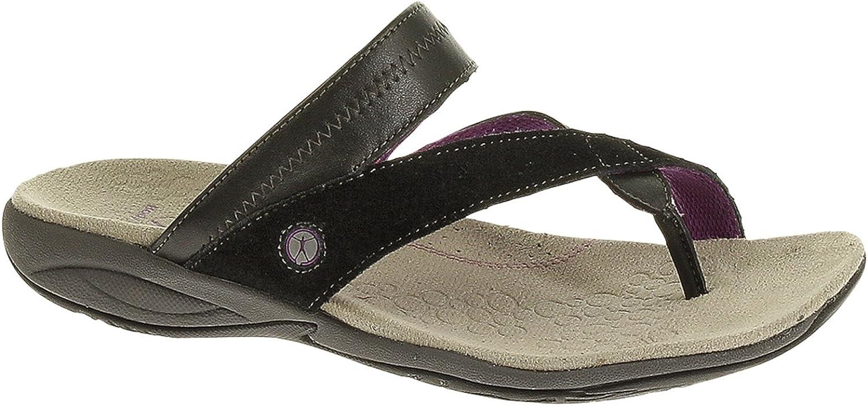 Hush Puppies Zendal TP_Strap Womens Leather Flip Flops Sandals shoes