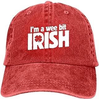 LeoCap I'm a Wee bit Irish Baseball Cap Unisex Washed Cotton Denim Hat Adjustable Caps Cowboy Hats
