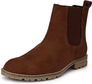 HiREL'S Men's Suede Leather Outdoor Chelsea Boots