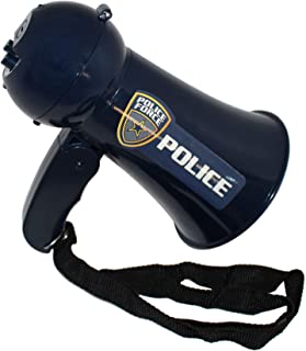Toy Goodkids Pretend Police Officer Toy Megaphone - Siren Sounds for Kids - Police Costume for Kids - Loud, Clear, Folding Handle, Strap, Volume Control, Voice Changer for Kids - Play Kids Police Toys