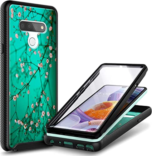 E-Began Case for LG K51, LG Reflect (L555DL) with [Built-in Screen Protector], Full-Body Shockproof Protective Rugged...