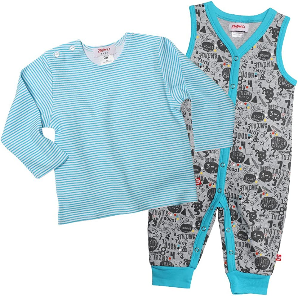 Zutano Baby Boys Super Clever Max 42% OFF Romper All items in the store and Set Sleeve Tee Long