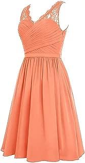 TalinaDress Women Short Chiffon Straps V Neck Bridesmaid Dresses Prom Gowns E299LF