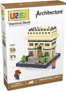 LOZUSA Triumphal Arch 640 PCS Diamond Block Micro Blocks Architecture Construction Model, Micro-Sized Building Set Parent-Child Games Building Blocks Children's Educational Toys