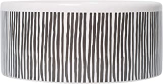 MOG & BONE Ceramic Dog Bowl Mocca Stripe Print 500ml