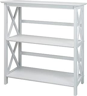 Casual Home Montego 3-Shelf Bookcase, White