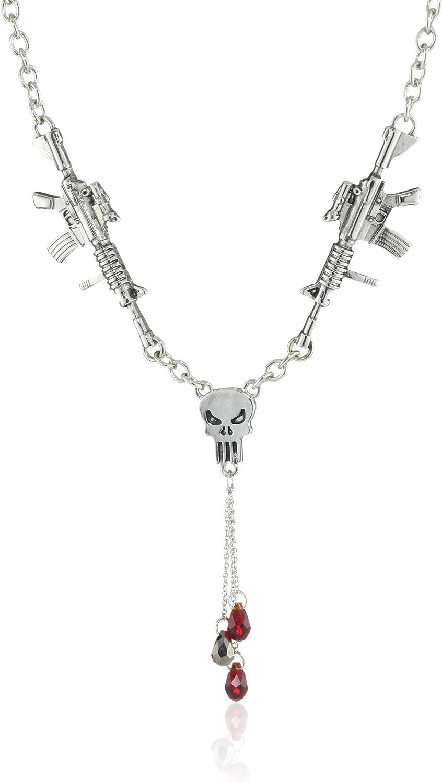 Marvel Comics Punisher Riffle Dangle Necklace