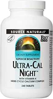 Source Naturals Ultra-Cal Night With Vitamin K - Krebs Cycle Calcium Complex - 240 Tablets