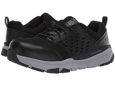 SKECHERS Work Soven Alloy Toe SR (Black/Gray) Men