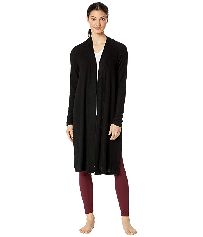 Vintage Coats & Jackets | Retro Coats and Jackets Beyond Yoga High Slits Long Duster Black Womens Sweater $118.80 AT vintagedancer.com