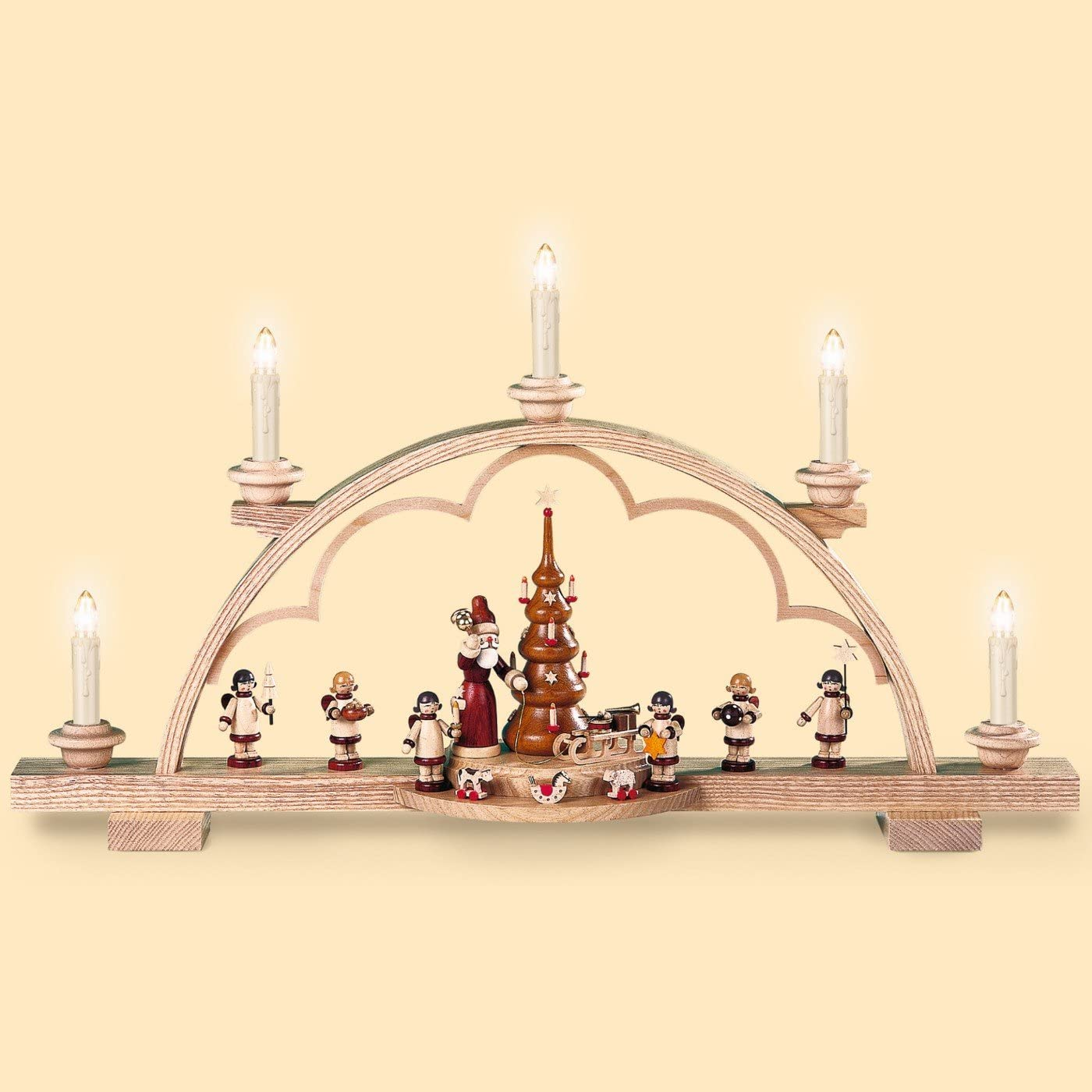 Müller German candle arch Santa Super special price giving Bargain cm in length 22 out 57