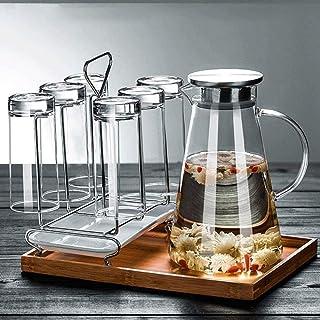 Tekanna tekanna utan stjälkar vinglas hög temperaturbeständig vattenkokare vinglas tekanna kopp blyfri stor kapacitet värm...